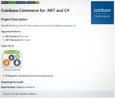 Coinbase Commerce Screenshot 1